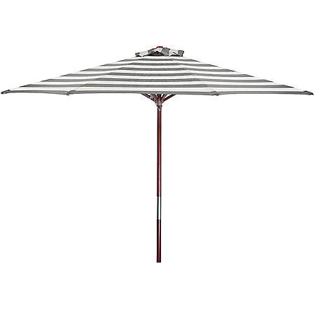 Classic Wood 9' Round Market Umbrella (Assorted Colors)