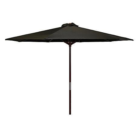 Classic Wood 9-Ft Market Umbrella, Assorted Colors