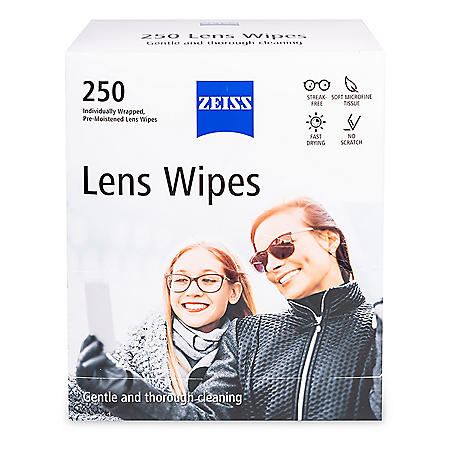 ZEISS Pre-Moistened Eyeglass Lens Cleaning Wipes (250 ct.)