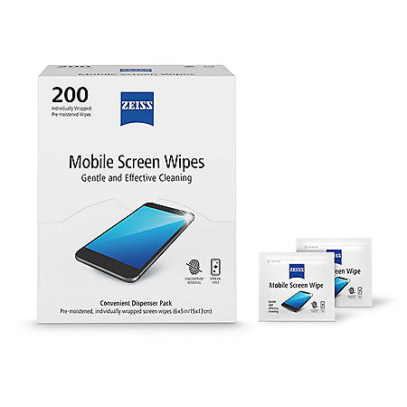 ZEISS Mobile Wipes 200-Count