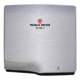 World Dryer SLIMdri Brushed Stainless Steel Hand Dryer