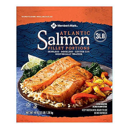 Member's Mark Atlantic Salmon Fillets (3 lbs ) - Sam's Club