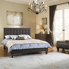 Augusta Upholstered Leather Platform Bed Frame