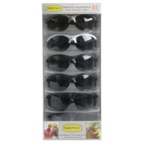 High Performance Safety Glasses - Smoke - 6 ct.