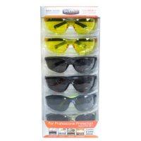 SafetyVU Safety Glasses, 4 Smoke and 2 Yellow, (6 pk.)