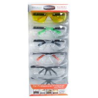 SafetyVU Safety Glasses, 5 Clear and 1 Yellow, (6-pk.)