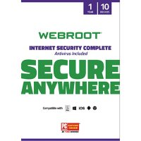 Webroot Internet Security Complete + Antivirus Software 10 Devices 1 Year PC/Mac