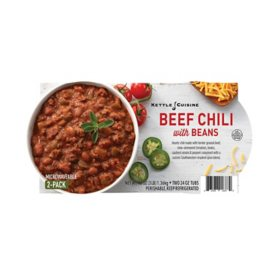 Kettle Cuisine Beef Chili with Beans (24 oz. tubs, 2 pk.)