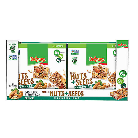 Dulzura Mixed Nuts + Seeds Crunchy Bars (16 pk.)