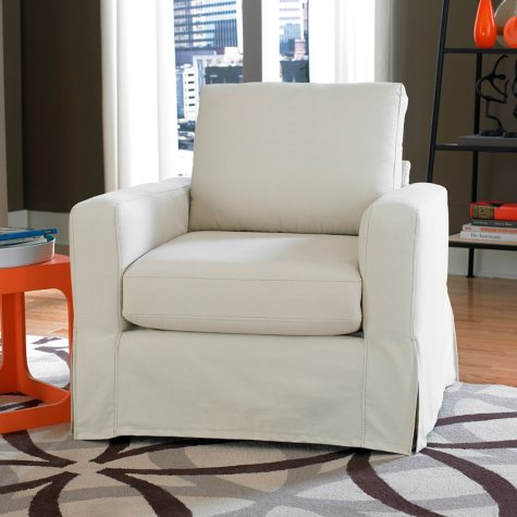 Lilly Slipcover Chair, Ivory
