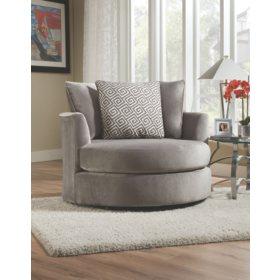 Phenomenal Keesling Round Swivel Chair Grey Sams Club Uwap Interior Chair Design Uwaporg