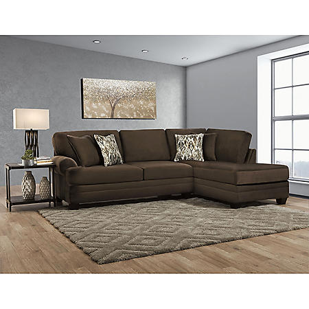 Brooke's 2-Piece Chaise Sectional, Brown