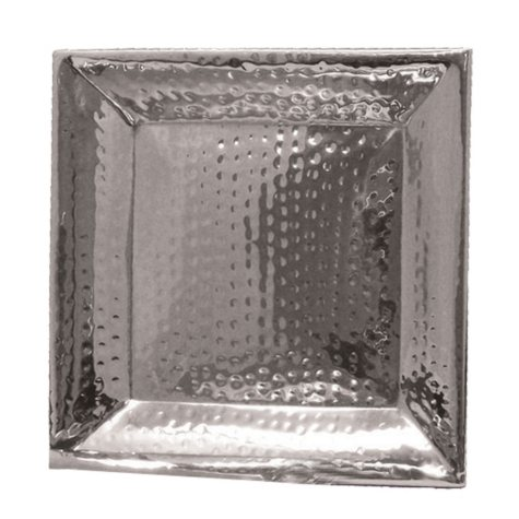 """Artisan Metal Works Square Stainless Steel Serving Tray - 11.25"""" or 16"""""""