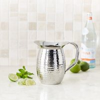 Artisan Double-Wall, Stainless Steel Insulated Serving Pitcher with Hammered Texture (2 qt.)