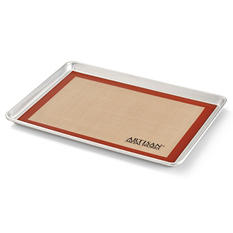 "Artisan Metal Works Two-Thirds Sheet Pan with Silicone Mat  (21"" x 15"" x 1"")"