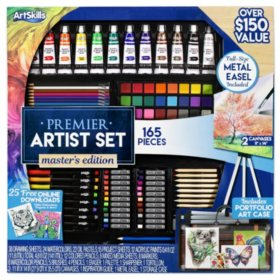 ArtSkills 165 Piece Premier Artist Set, Master Edition with Collapsible Easel