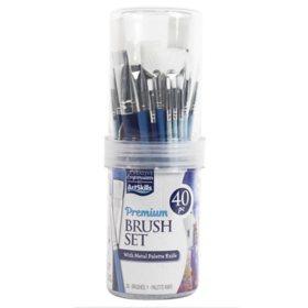 ArtSkills Premium Brush Tube, 40 Pieces