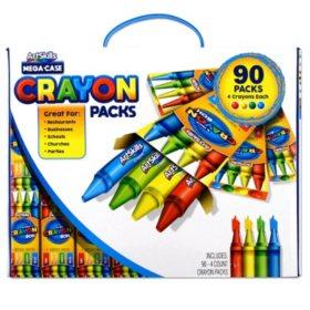 ArtSkills 90 Count 4 Pack Crayons