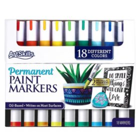 ArtSkills Permanent Paint Markers Art Set, 18 Colors