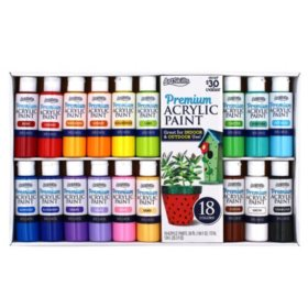 ArtSkills Premium Acrylic Paint Bottles Art Set, 18 Colors