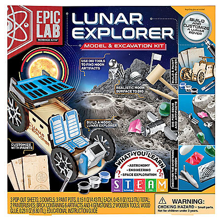 Epic Lab Lunar Explorer,  Model and Excavation STEM Kit