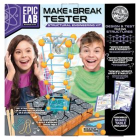 Epic Lab Make and Break Tester, Structural Engineering STEM Kit