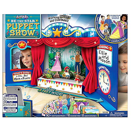 ArtSkills 3' Table Top Light Up Puppet Show Theater for Kids