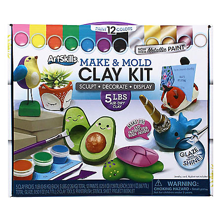 ArtSkills Kids Make and Mold Air-Dry Clay Art Activity Kit