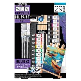 ArtSkills Complete Oil Paint Art Set with Easel, 29 Pcs