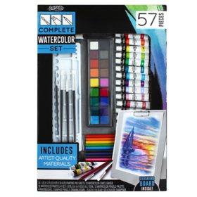 ArtSkills Complete Watercolor Paints Set with Easel, 57 Pcs