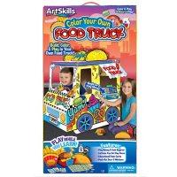 ArtSkills Color Your Own Cardboard Food Truck Kit for Kids