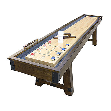 Cheyenne 12' Shuffleboard Table - Rustic Oak Finish