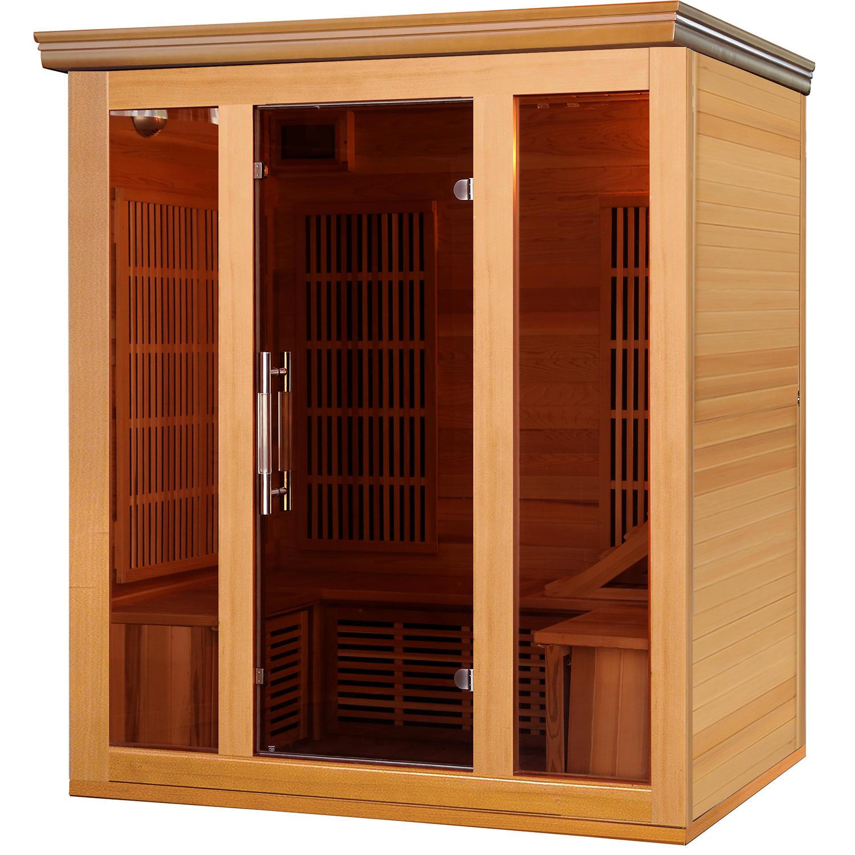 Hybrid Cedar Elite 3-4 Person Premium Sauna with 9 Carbon Heaters