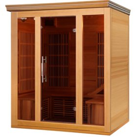 Hybrid Cedar Elite 3-4 Person Premium Sauna with 9 Carbon Heaters