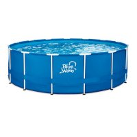 """Blue Wave 18' Round 52"""" Deep Active Frame Swimming Pool Package with Cover"""