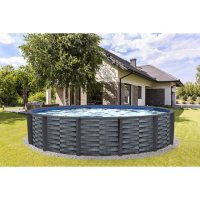 """Affinity 18' Round 52"""" Deep 7"""" Top Rail Resin Swimming Pool Package"""