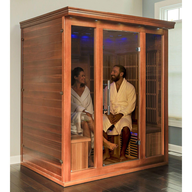 Cedar Elite Premium Sauna with 9 Carbon Heaters: 3-4 Person (BSA 1315)