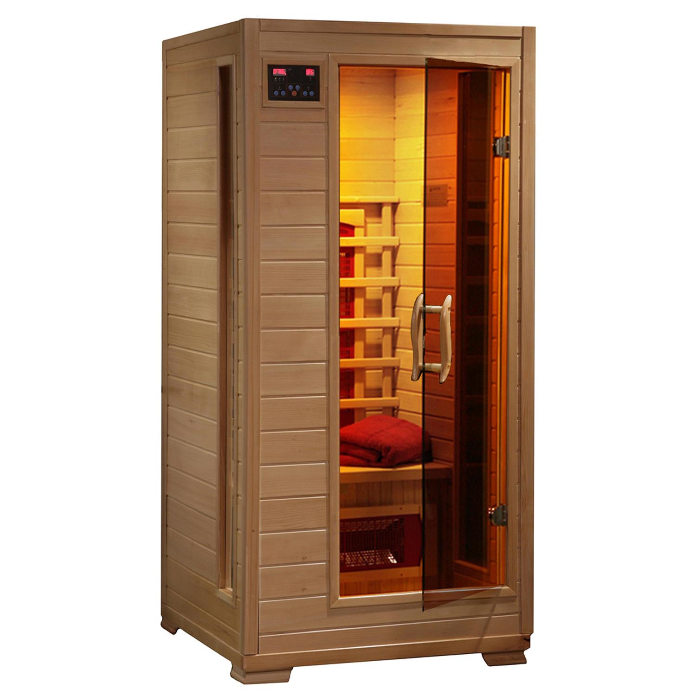 Radiant Saunas BSA2400 1-2-Person Hemlock Infrared Sauna with 3 Ceramic Heaters
