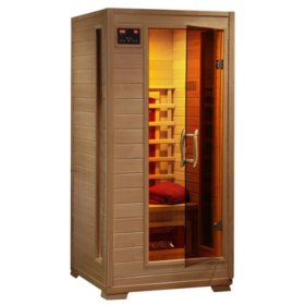 Radiant Saunas 1-2-Person Hemlock Infrared Sauna with 3 Ceramic Heaters