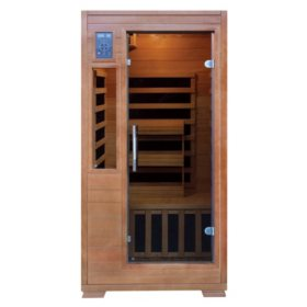Hemlock Infrared Sauna with 5 Carbon Heaters: 1-2 Person Capacity (SA3202)