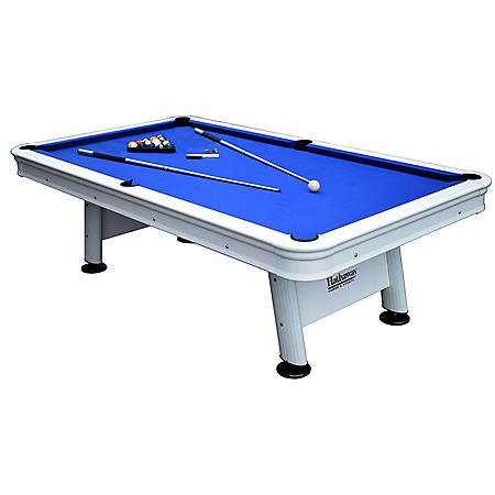 Alpine 8' Outdoor Pool Table with Aluminum Rails & Waterproof Felt