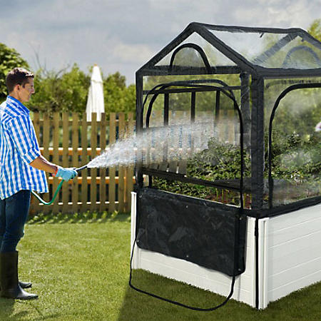 4 x 4 Keyhole with Garden Rack & Greenhouse