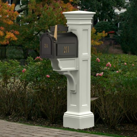 Liberty Mail Post - White