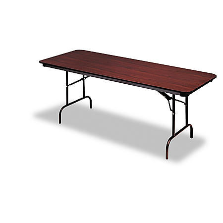 "Iceberg Premium 60"" x 30"" Wood Laminate Folding Table, Select Color"
