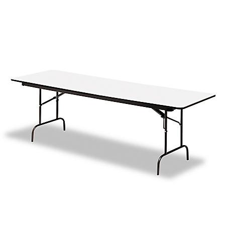 "Iceberg Premium 72"" x 30"" Wood Folding Table, Select Color"