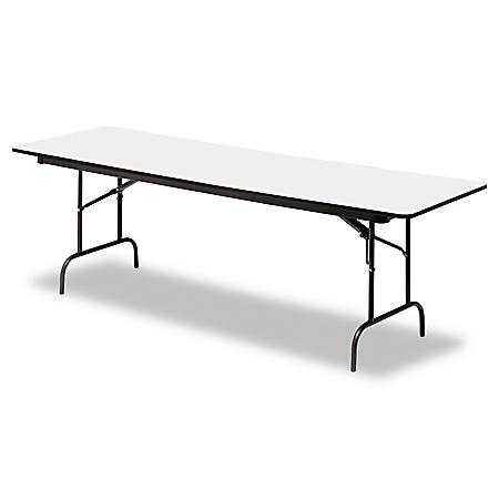Iceberg Premium 8' Wood Laminate Folding Table, Select Color