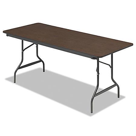 Iceberg 6.25' Economy Folding Table, Wood Laminate