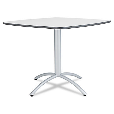 "Iceberg Cafe 36"" Square Breakroom Table, Gray/Steel"