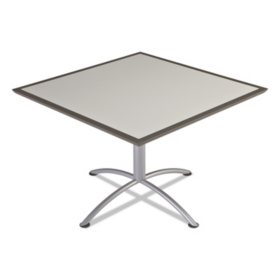 "Iceberg iLand 42"" Square Seated Style Table, Gray/Silver"