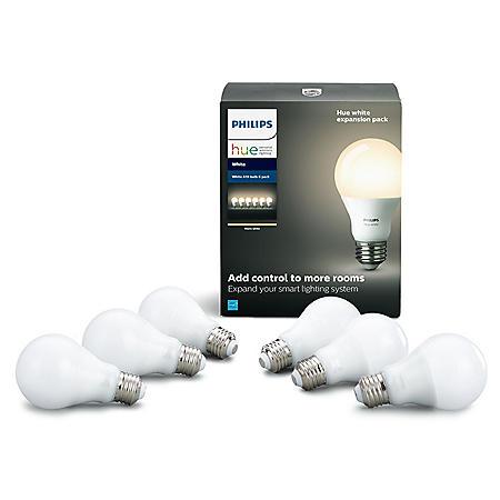 Philips Hue 6-Pack White Smart Bulb Expansion Pack - Sam's Club